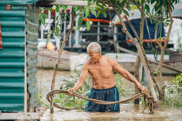 Ảnh, clip: Nước sông Hồng dâng cao, người dân Hà Nội bì bõm tập thể dục - Ảnh 16.