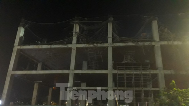 Sập trần công trình xây dựng đại lý ô tô ở thành phố Bắc Giang - Ảnh 2.