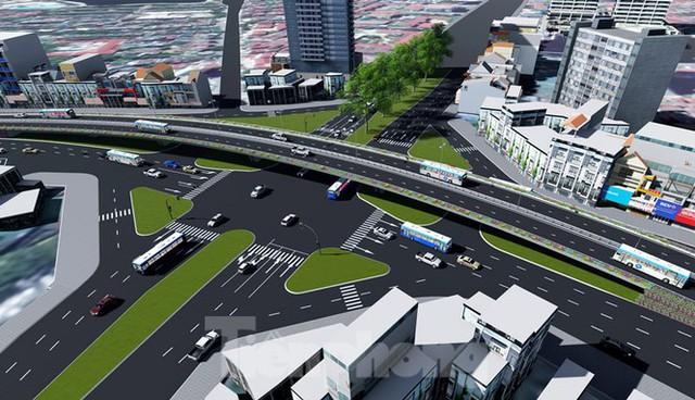 Hình ảnh thiết kế cầu vượt nút giao La Thành - Nguyễn Chí Thanh - Ảnh 1.