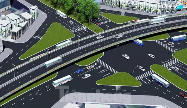 Hình ảnh thiết kế cầu vượt nút giao La Thành - Nguyễn Chí Thanh - Ảnh 2.