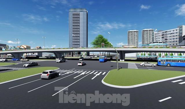 Hình ảnh thiết kế cầu vượt nút giao La Thành - Nguyễn Chí Thanh - Ảnh 4.