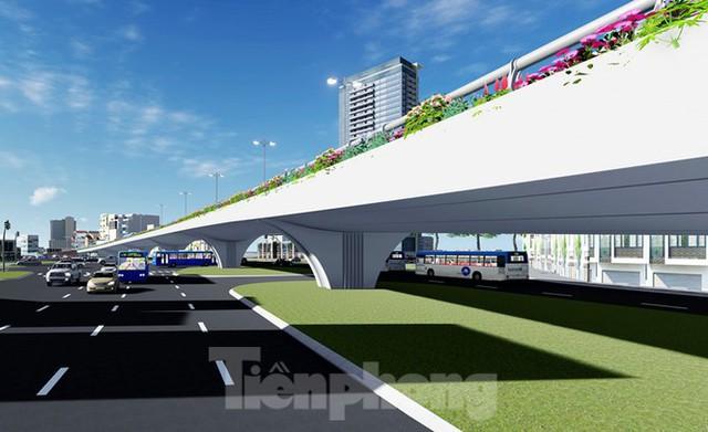 Hình ảnh thiết kế cầu vượt nút giao La Thành - Nguyễn Chí Thanh - Ảnh 6.