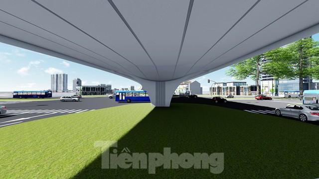 Hình ảnh thiết kế cầu vượt nút giao La Thành - Nguyễn Chí Thanh - Ảnh 7.