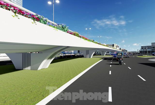 Hình ảnh thiết kế cầu vượt nút giao La Thành - Nguyễn Chí Thanh - Ảnh 9.