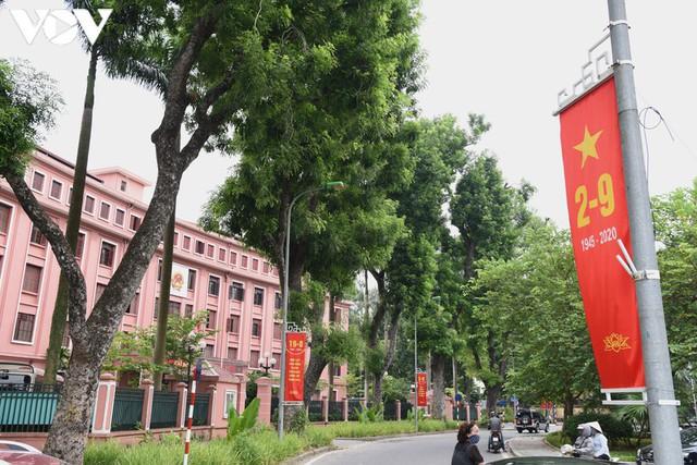 Ảnh: Thủ đô Hà Nội rực màu cờ Tổ quốc chào đón Quốc khánh 2/9 - Ảnh 3.