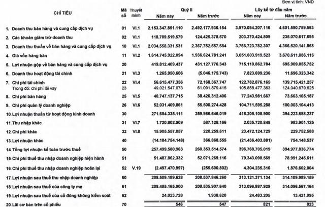 Xi măng Hà Tiên 1 (HT1) báo lãi 208 tỷ đồng trong quý 2, xấp xỉ bằng cùng kỳ - Ảnh 1.