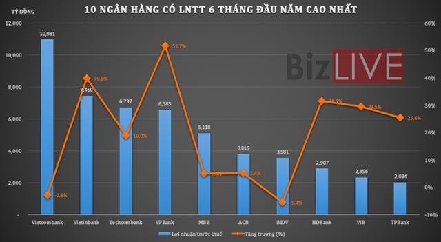 Thay đổi lớn trong Top 10 lợi nhuận ngân hàng Việt - Ảnh 1.