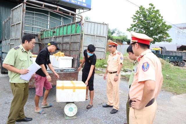 Tiêu hủy gần 600 kg nội tạng động vật bốc mùi hôi thối tại Phú Thọ - Ảnh 1.