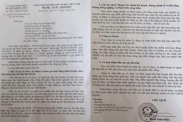 Áp thuế thu mua sầu riêng ở Đắk Lắk, Tổng Cục thuế lên tiếng - Ảnh 2.