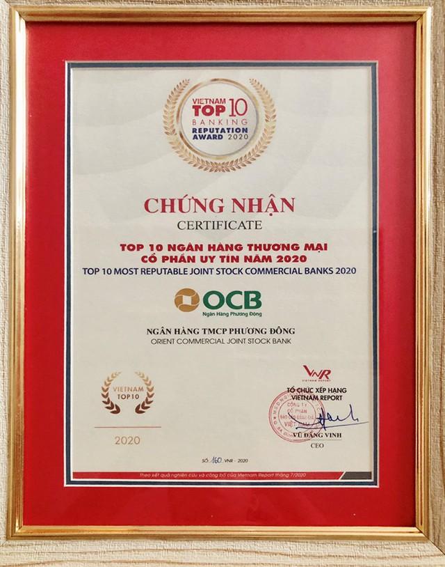 OCB được vinh danh trong bảng xếp hạng Fast 500 & Top 10 ngân hàng uy tín năm 2020 - Ảnh 1.