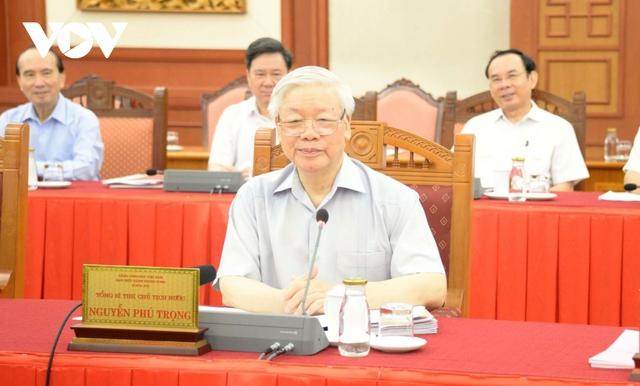 Tổng Bí thư, Chủ tịch nước chủ trì buổi làm việc với Ban Thường vụ Thành ủy Hà Nội  - Ảnh 1.