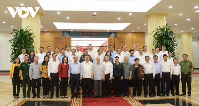 Tổng Bí thư, Chủ tịch nước chủ trì buổi làm việc với Ban Thường vụ Thành ủy Hà Nội  - Ảnh 3.