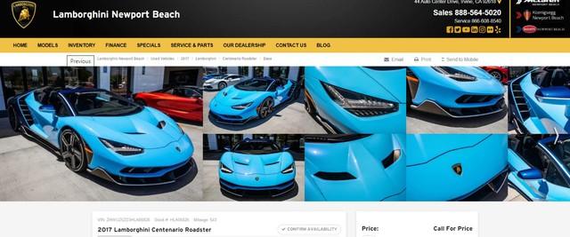 Rộ tin đồn vụ đại gia Việt mua siêu xe Lamborghini Centenario vì thất tình chỉ là giả: Chủ nhân bốc phét để sống ảo trên mạng? - Ảnh 3.