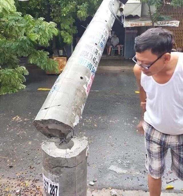 Hơn 400 cột điện đổ la liệt sau bão số 5: Tạm dừng sử dụng cột dự ứng lực - Ảnh 5.
