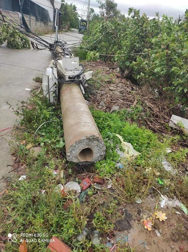Hơn 400 cột điện đổ la liệt sau bão số 5: Tạm dừng sử dụng cột dự ứng lực - Ảnh 6.