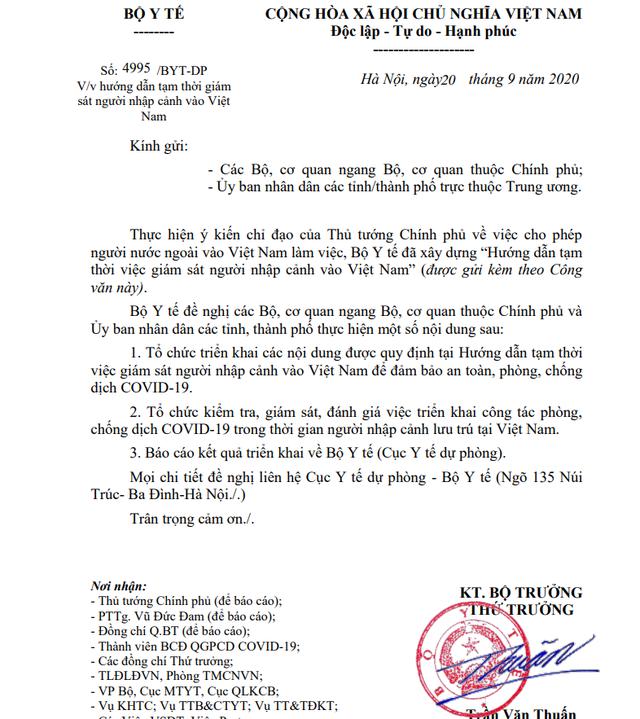 Hướng dẫn tạm thời giám sát người nhập cảnh vào Việt Nam - Ảnh 1.