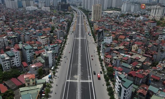 Cận cảnh cầu cạn Mai Dịch - Nam Thăng Long đã rải nhựa xong chờ ngày thông xe - Ảnh 10.
