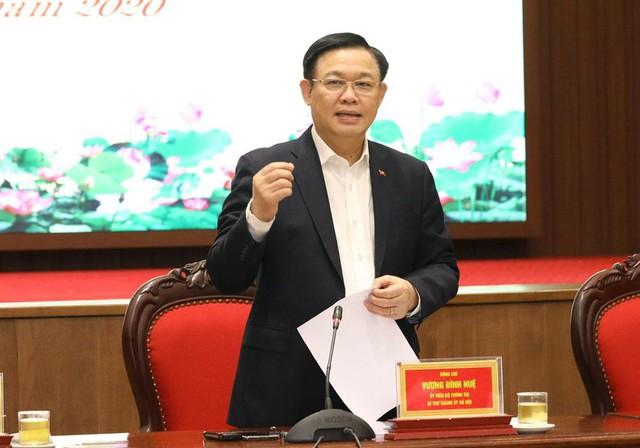 Bí thư Vương Đình Huệ: Phấn đấu GRDP Hà Nội đạt mức ít nhất cao gấp 1,3 lần GDP cả nước trong năm nay - Ảnh 1.