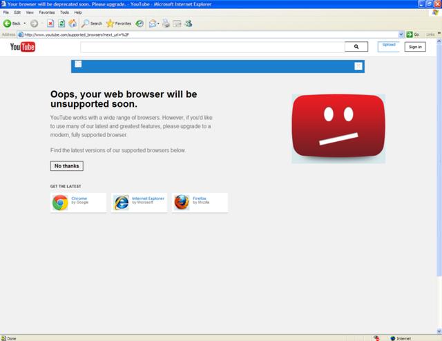 YouTube đã dùng mưu hèn, kế bẩn giết chết trình duyệt Internet Explorer như thế nào? - Ảnh 1.