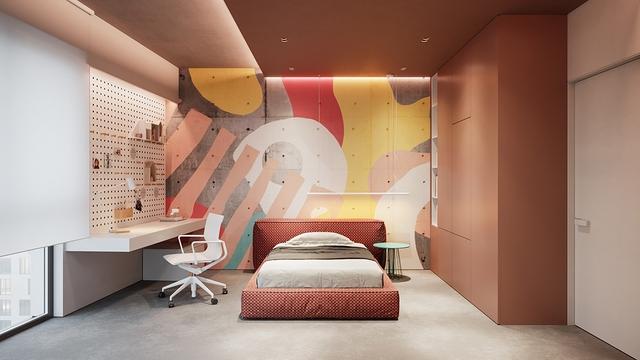 Những không gian phòng ngủ trẻ em rực rỡ sắc màu - Ảnh 2.