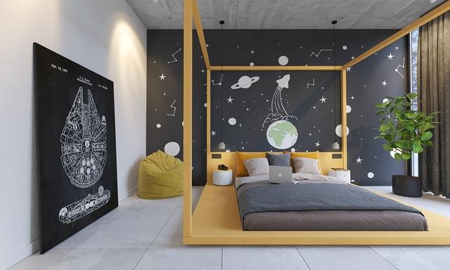 Những không gian phòng ngủ trẻ em rực rỡ sắc màu - Ảnh 12.
