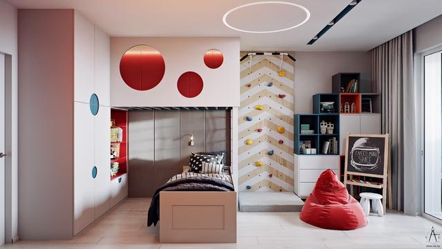 Những không gian phòng ngủ trẻ em rực rỡ sắc màu - Ảnh 6.