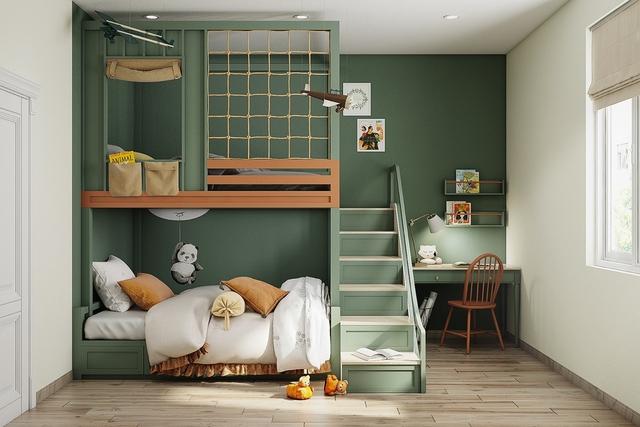 Những không gian phòng ngủ trẻ em rực rỡ sắc màu - Ảnh 10.