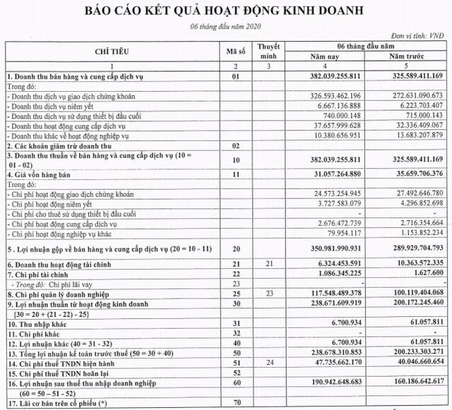 HoSE báo lãi nửa đầu năm tăng 19% lên 191 tỷ, phân nửa tài sản là tiền và tiền gửi với 1.055 tỷ đồng - Ảnh 1.