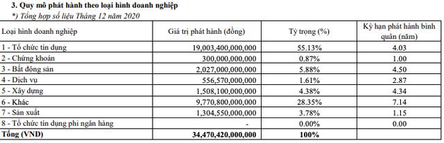 Năm 2020, doanh nghiệp hút 403.469 tỷ đồng vốn từ kênh trái phiếu - Ảnh 2.
