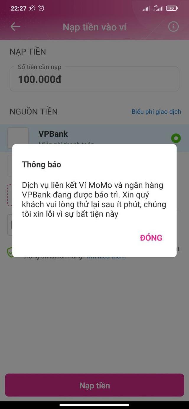 VPBank, TPBank cùng nhiều ngân hàng gặp sự cố toàn hệ thống, người dùng hoang mang - Ảnh 2.