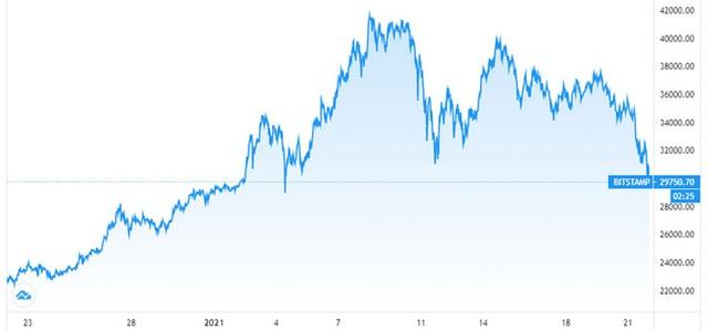 Lo ngại Mỹ siết giám sát, giá Bitcoin lao dốc về dưới 30.000 USD - Ảnh 1.