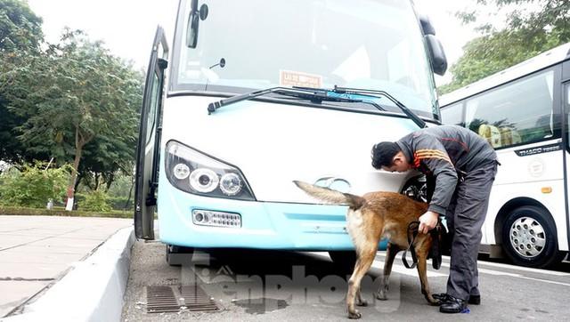 Cảnh khuyển tham gia rà soát xe phục vụ Đại hội XIII - Ảnh 7.