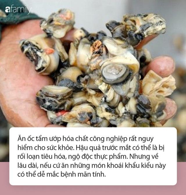 Cận Tết, 1.3 tấn thịt ốc ngâm hóa chất bị phanh phui: Chuyên gia khuyến cáo những điều cực QUAN TRỌNG khi ăn ốc  - Ảnh 2.