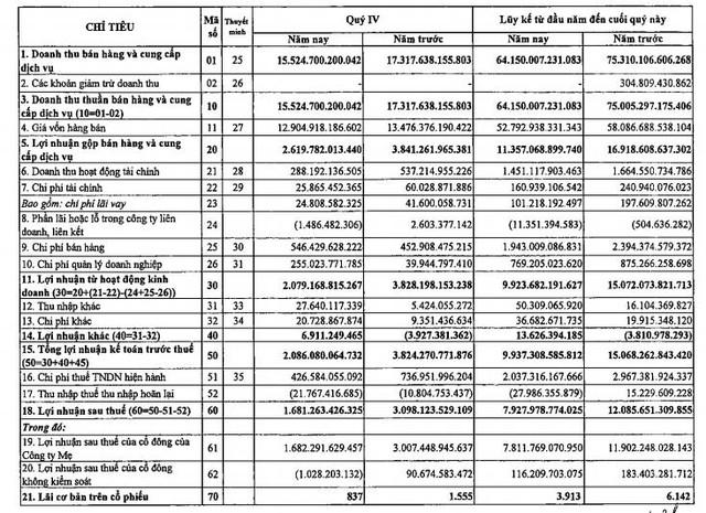 Khí Việt Nam (GAS): Quý 4 lãi 1.681 tỷ đồng giảm 46% so với cùng kỳ - Ảnh 1.