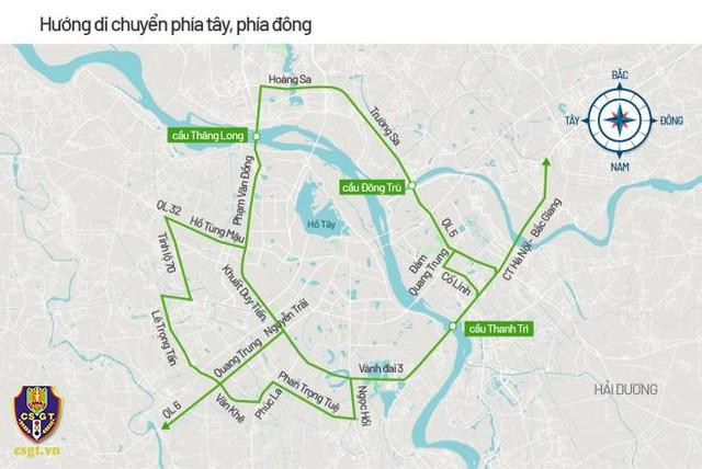 Hà Nội phân luồng giao thông phục vụ Đại hội Đảng XIII - Ảnh 3.