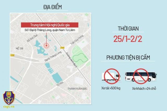 Hà Nội phân luồng giao thông phục vụ Đại hội Đảng XIII - Ảnh 4.