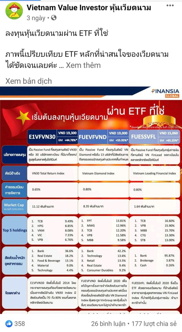 """Nhà đầu tư Thái Lan đẩy mạnh """"gom"""" chứng chỉ quỹ ETFs trên TTCK Việt Nam  - Ảnh 5."""