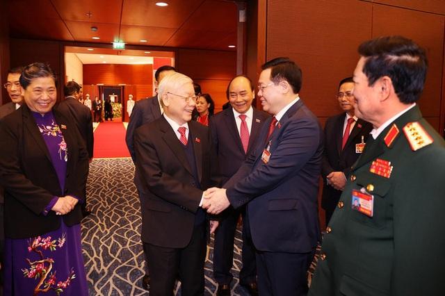 Chùm ảnh: Tổng Bí thư, Chủ tịch nước và các đại biểu dự phiên trù bị Đại hội XIII - Ảnh 5.