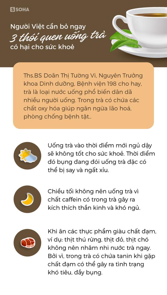 [Ảnh sức khỏe] Người Việt cần bỏ ngay 3 thói quen uống trà đang hại sức khoẻ - Ảnh 1.