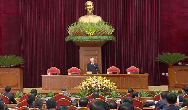 Chùm ảnh: Trung ương khóa XIII họp bầu Bộ Chính trị, Tổng Bí thư  - Ảnh 2.