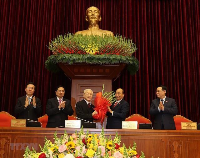 Ông Nguyễn Phú Trọng tái đắc cử Tổng Bí thư - Ảnh 1.