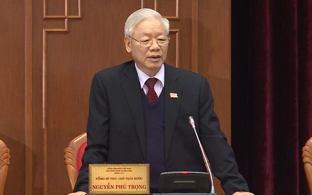 Chùm ảnh: Trung ương khóa XIII họp bầu Bộ Chính trị, Tổng Bí thư  - Ảnh 3.