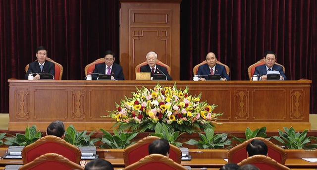 Chùm ảnh: Trung ương khóa XIII họp bầu Bộ Chính trị, Tổng Bí thư  - Ảnh 4.