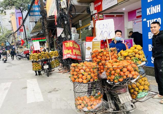 Hà Nội tái diễn chợ cóc tự phát khi Tết Nguyên đán cận kề - Ảnh 5.