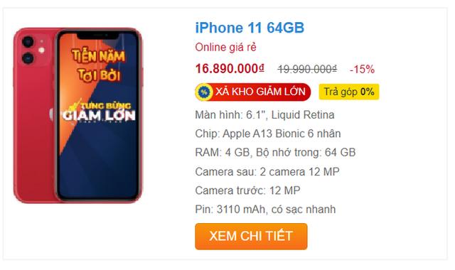 """iPhone 11 xả kho, giảm giá """"sốc"""" 5 triệu đồng trong ngày đầu năm - Ảnh 1."""