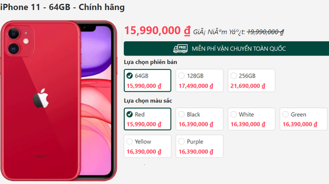 """iPhone 11 xả kho, giảm giá """"sốc"""" 5 triệu đồng trong ngày đầu năm - Ảnh 2."""