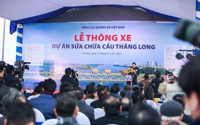 CLIP: Thông xe cầu Thăng Long sau gần 5 tháng sửa chữa  - Ảnh 8.