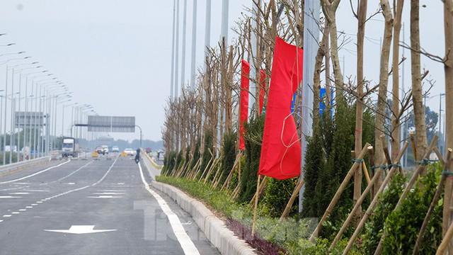 Nút giao Vành đai 3 với cao tốc Hà Nội - Hải Phòng trước ngày thông xe - Ảnh 11.