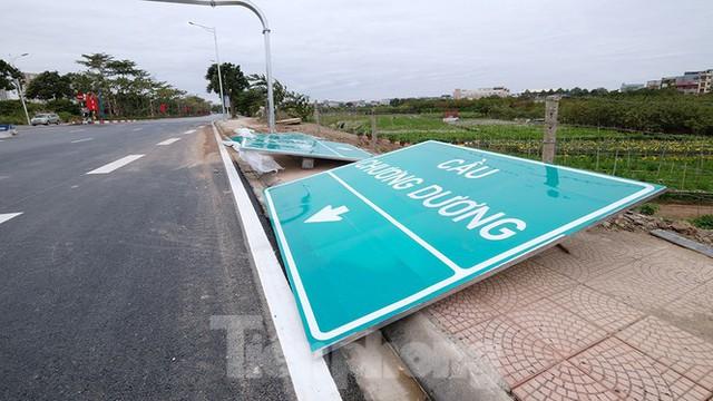 Nút giao Vành đai 3 với cao tốc Hà Nội - Hải Phòng trước ngày thông xe - Ảnh 6.