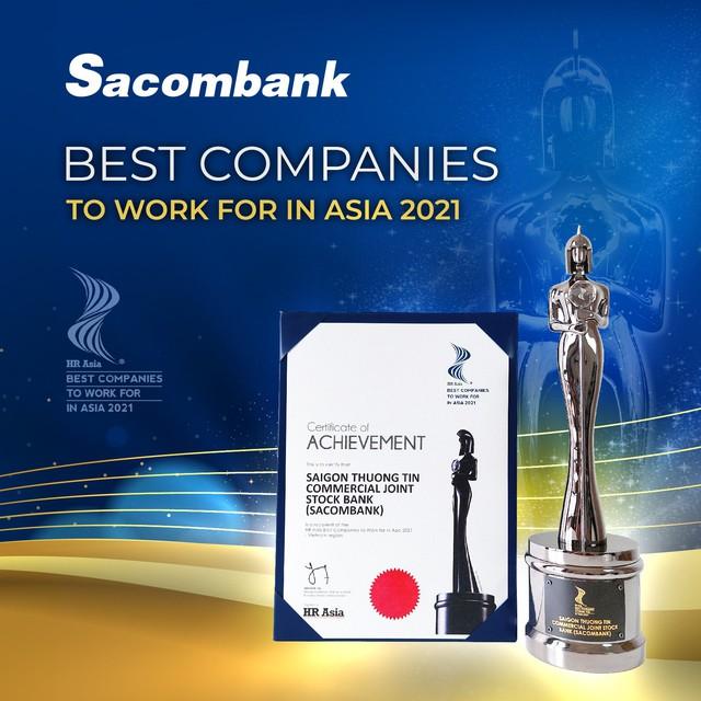 Sacombank là một trong những nơi có môi trường làm việc tốt nhất châu Á năm 2021 - Ảnh 2.
